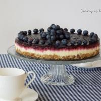 Creamy Blueberry Cheesecake (no bake)